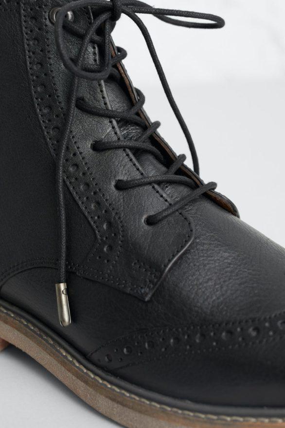 Seasalt Cornwall kožené boty conwenna černé