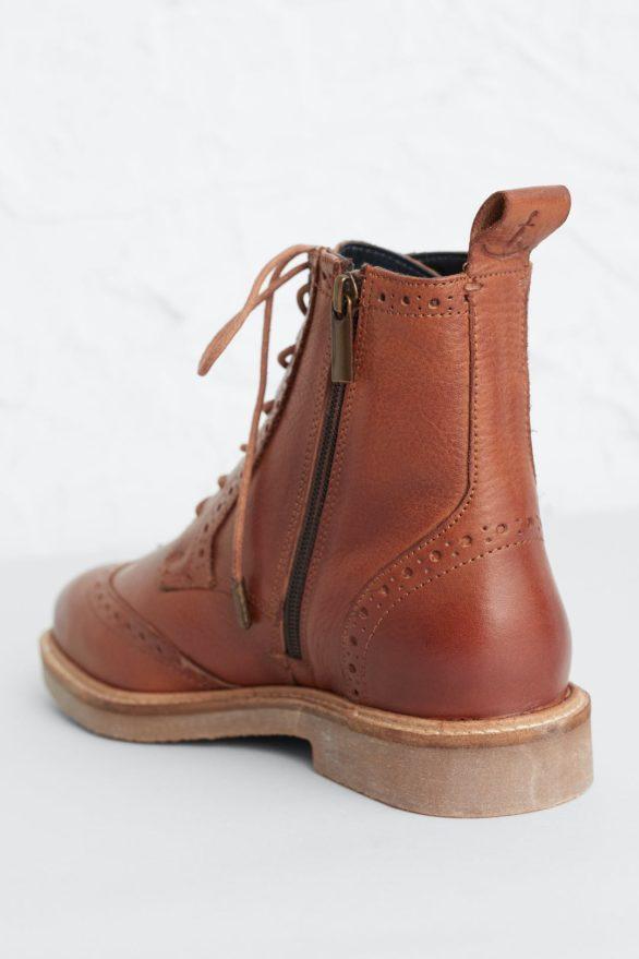 Seasalt Cornwall kožené boty conwenna hnědé