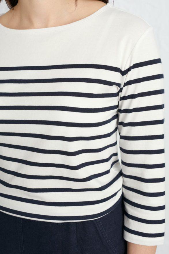 Seasalt Cornwall top sailor z bio bavlny falmouth breton chalk midnight
