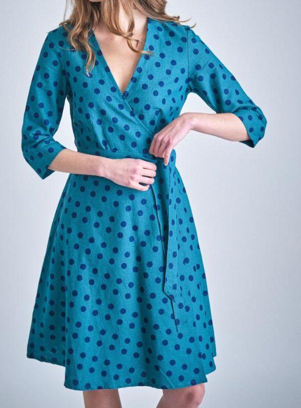 Bibico zavinovací šaty jasmine emerald
