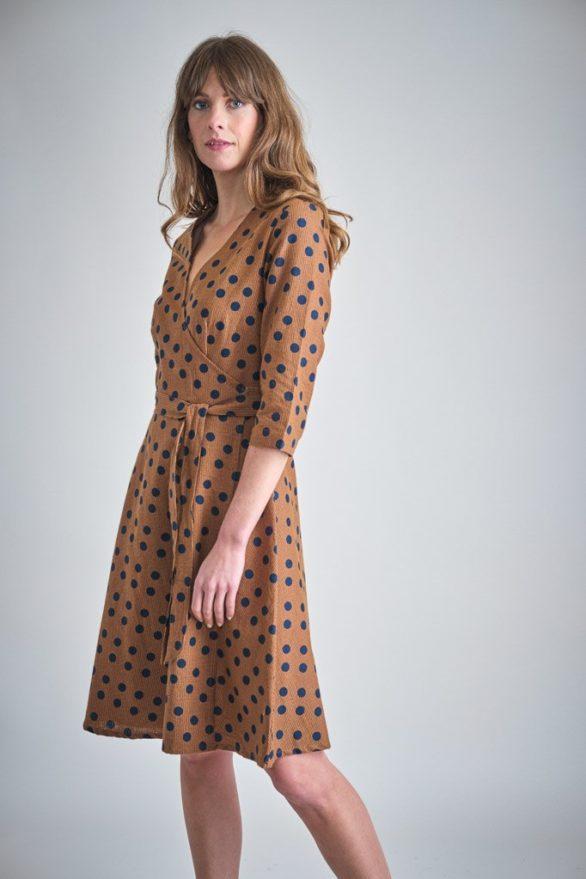 Bibico zavinovací šaty jasmine toffee