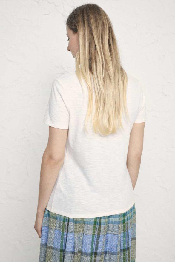 Seasalt Cornwall tričko z bio bavlny printing ink harbour