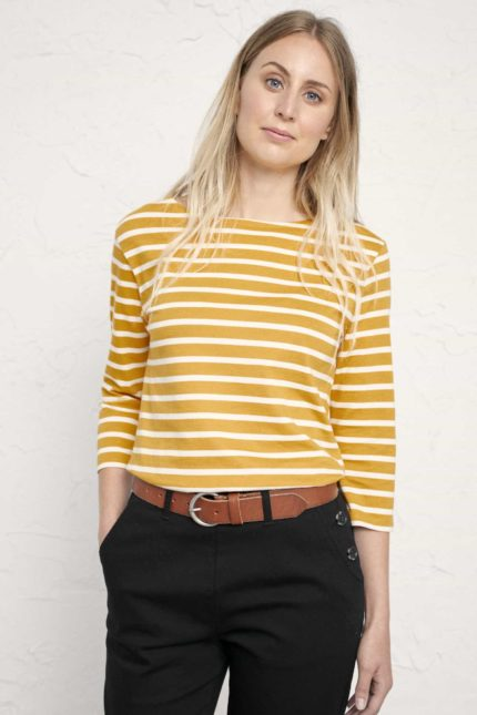 Seasalt Cornwall top sailor breton sunglow z bio bavlny