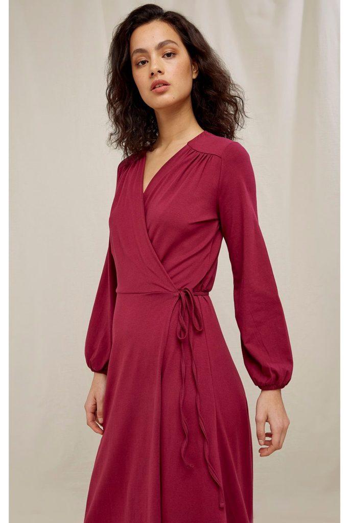 People Tree zavinovací šaty inga z bio bavlny