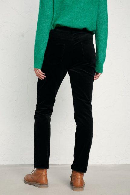 Seasalt Cornwall slim kalhoty lamledra black