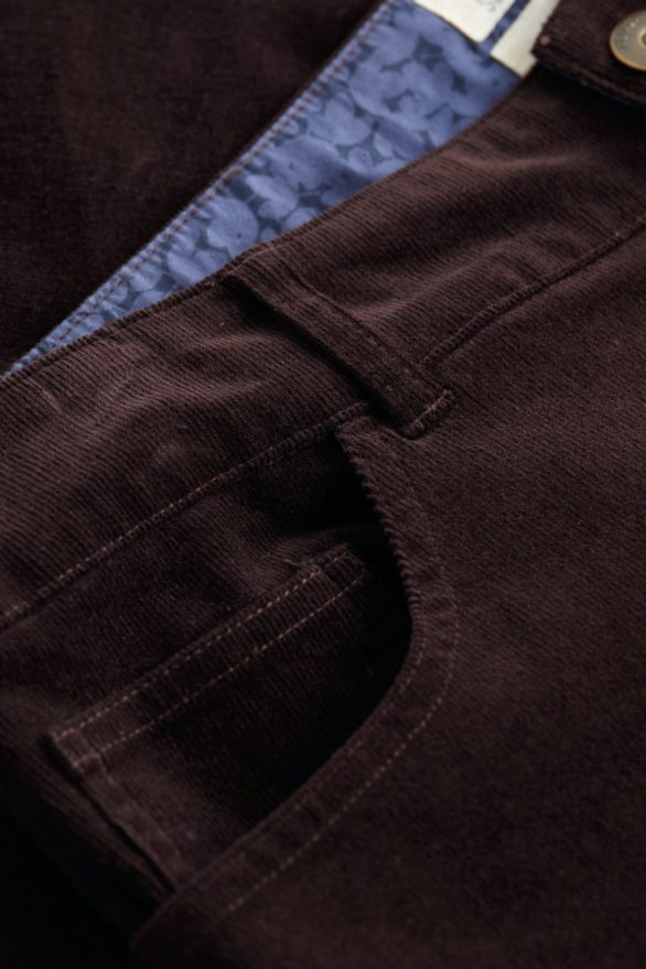 Seasalt Cornwall slim kalhoty lamledra cocoa