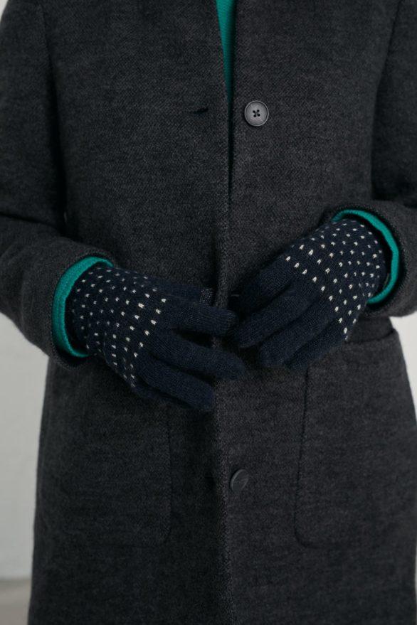 Seasalt Cornwall rukavice clever shannon dark night