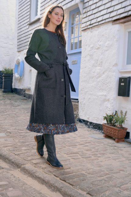 Seasalt Cornwall vlněný kabát lysbeth iron