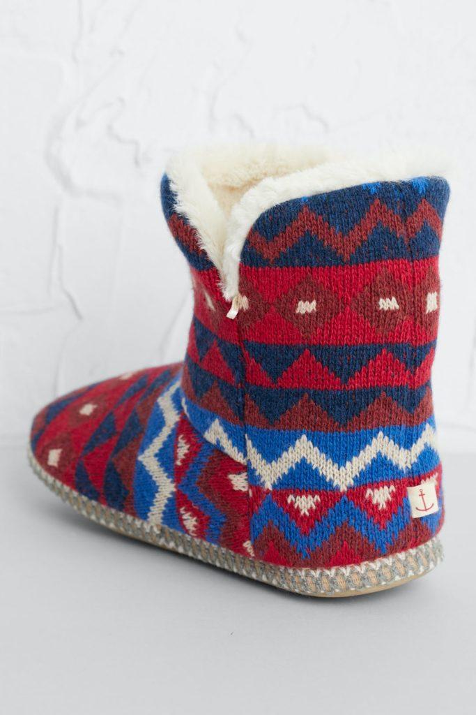 Seasalt Cornwall teplé domácí papuče rich red