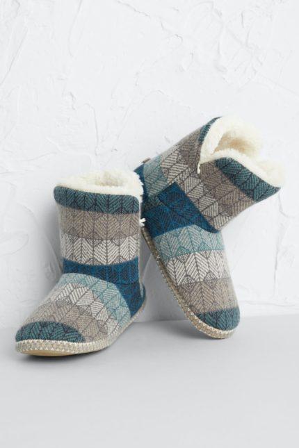 Seasalt Cornwall teplé domácí papuče nettle