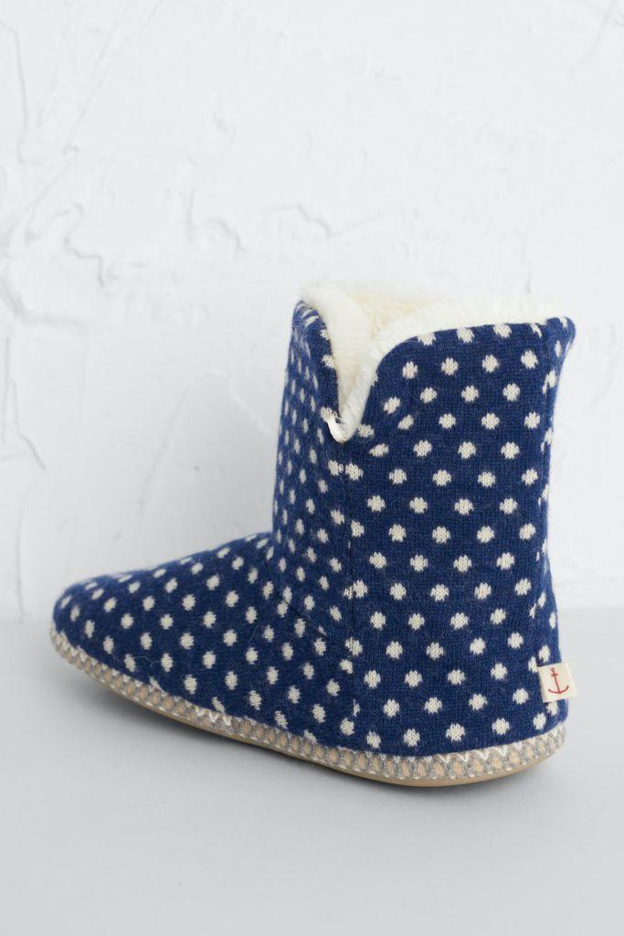Seasalt Cornwall teplé domácí papuče french blue