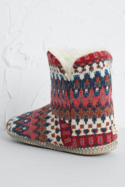 Seasalt Cornwall teplé domácí papuče dahlia