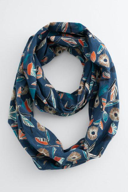Seasalt Cornwall kruhový šátek everyday floral raincloud