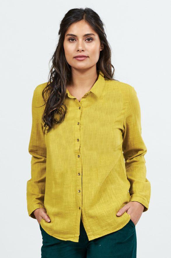 Nomads košile s dlouhým rukávem žlutá
