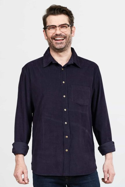 Nomads pánská manšestrová košile fialová