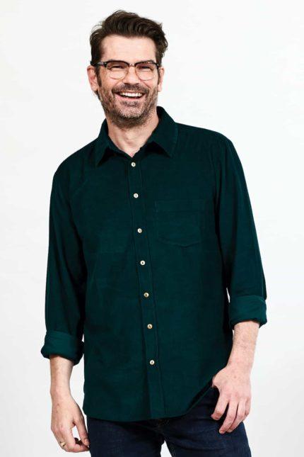Nomads pánská manšestrová košile zelená