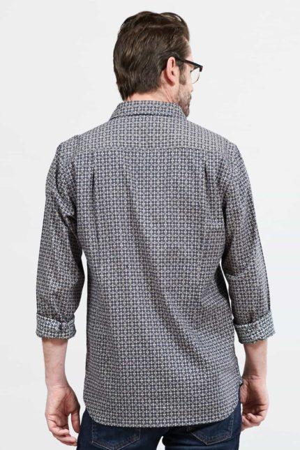 Nomads pánská košile geo check navy