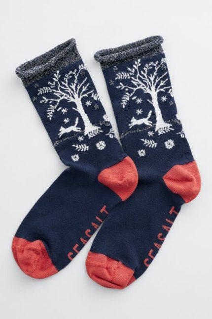 snowy scenes socks tree pots raven