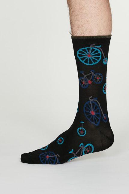 Thought pánské bambusové ponožky julian černé
