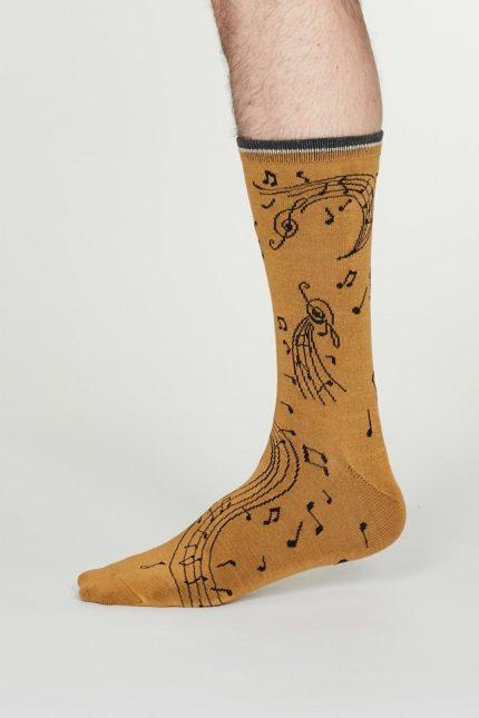 Thought pánské bambusové ponožky wallace žluté