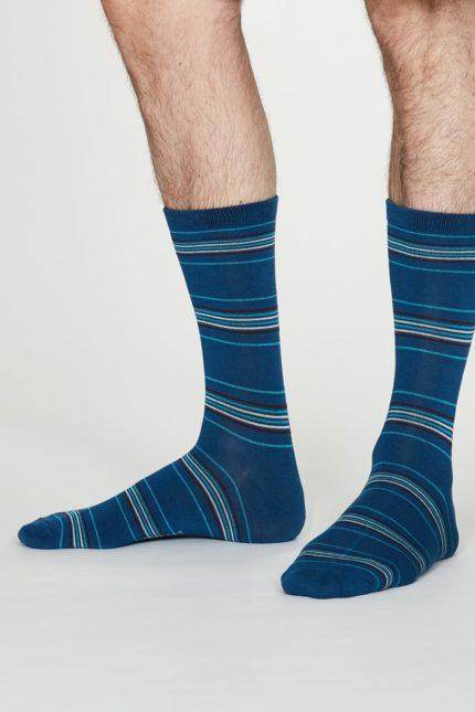 Thought pánské bambusové ponožky nicolson modré
