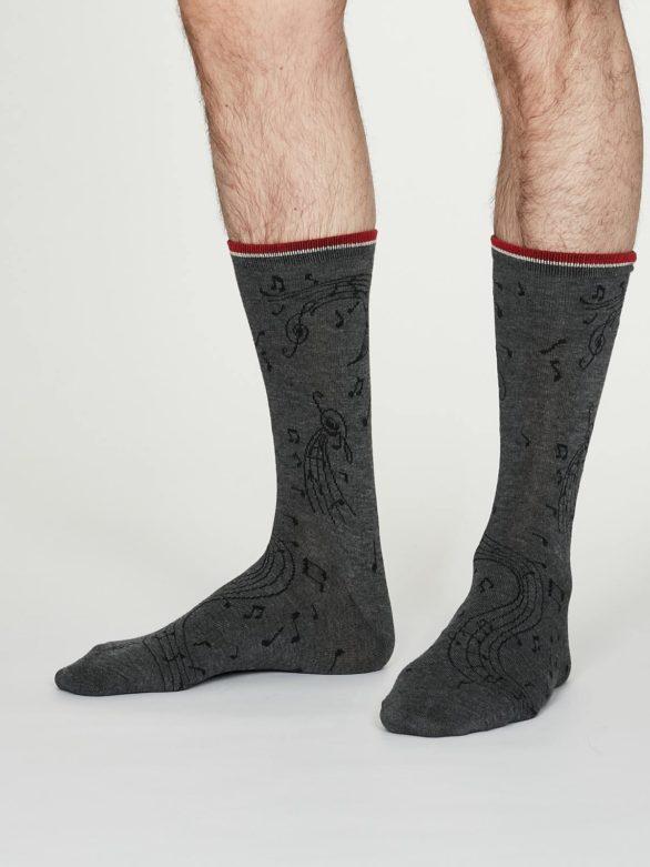 Thought pánské bambusové ponožky wallace šedé