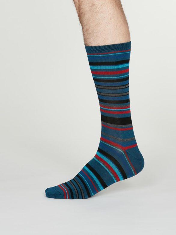 Thought pánské bambusové ponožky carlo modré