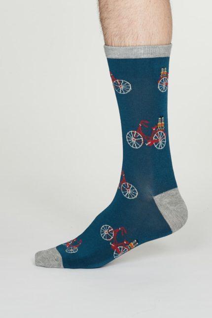 Thought pánské bambusové ponožky pedal denim