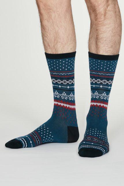 Thought pánské bambusové ponožky reginald denim