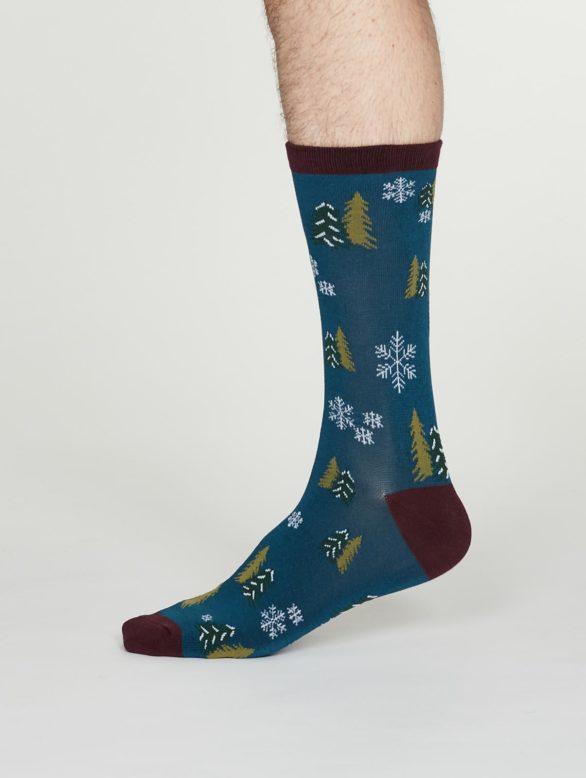 Thought pánské bambusové ponožky timber denim