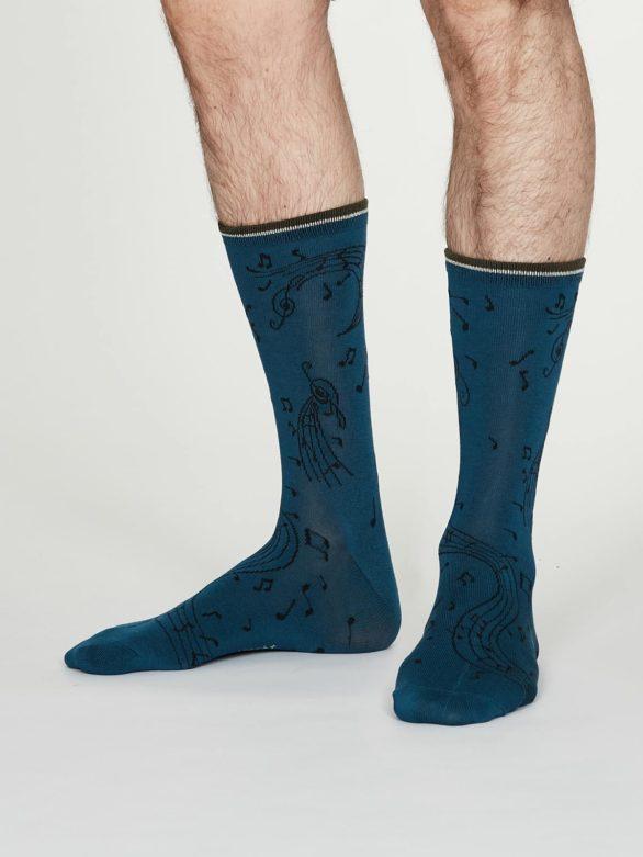 Thought pánské bambusové ponožky wallace modré