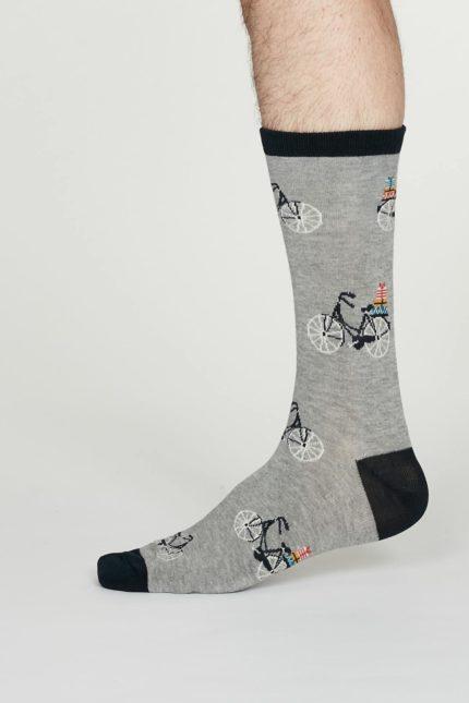 Thought pánské bambusové ponožky pedal šedé