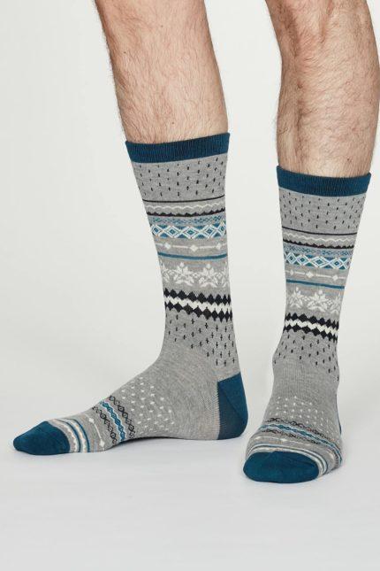 Thought pánské bambusové ponožky reginald šedé