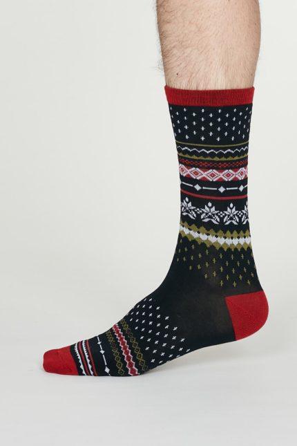 Thought pánské bambusové ponožky reginald tsm. modré