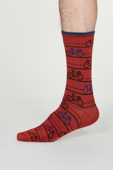 Thought pánské bambusové ponožky julian červené