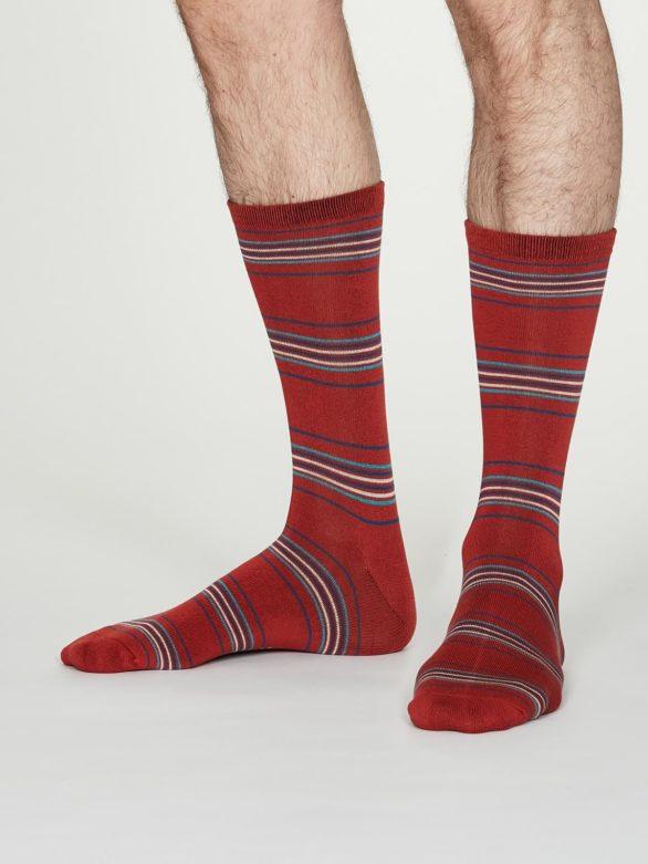 Thought pánské bambusové ponožky nicolson červené