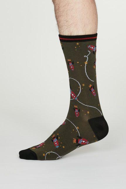 Thought pánské bambusové ponožky cosmos šedé