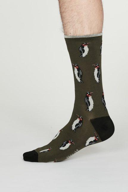 Thought pánské bambusové ponožky penguin šedé