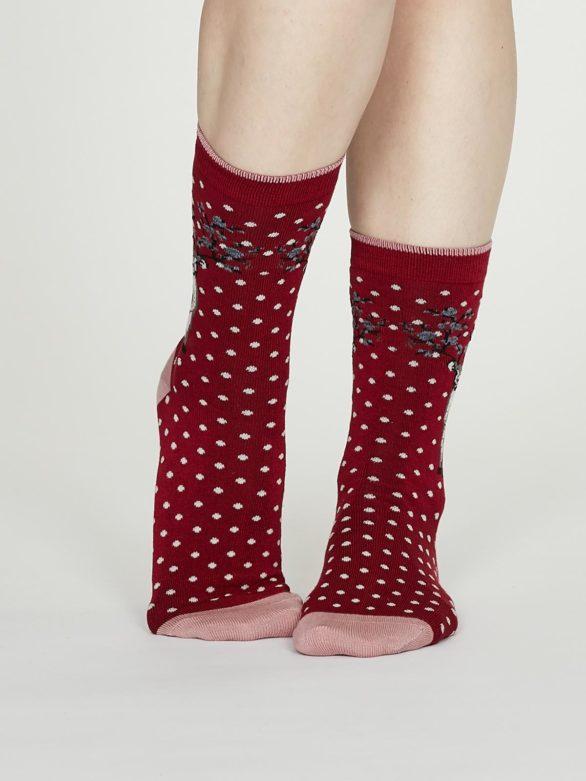 Thought bambusové ponožky elias červené