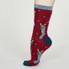Thought dámské bambusové ponožky jena červené