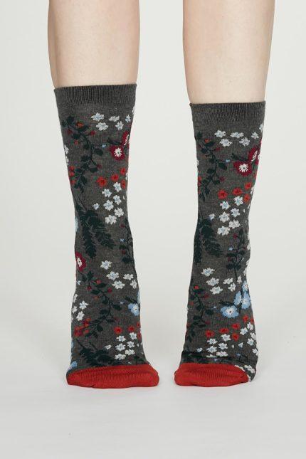 Thought dámské bambusové ponožky blossom šedé