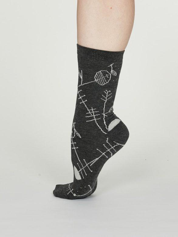 Thought dámské bambusové ponožky edith šedé