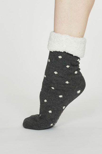 Thought dámské huňaté ponožky elizabeth šedé
