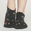 Thought dámské kotníkové ponožky flowery šedé