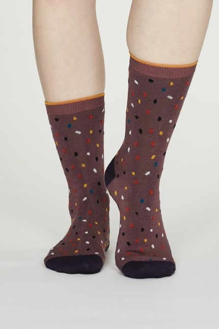 Thought dámské bambusové ponožky emme růžové