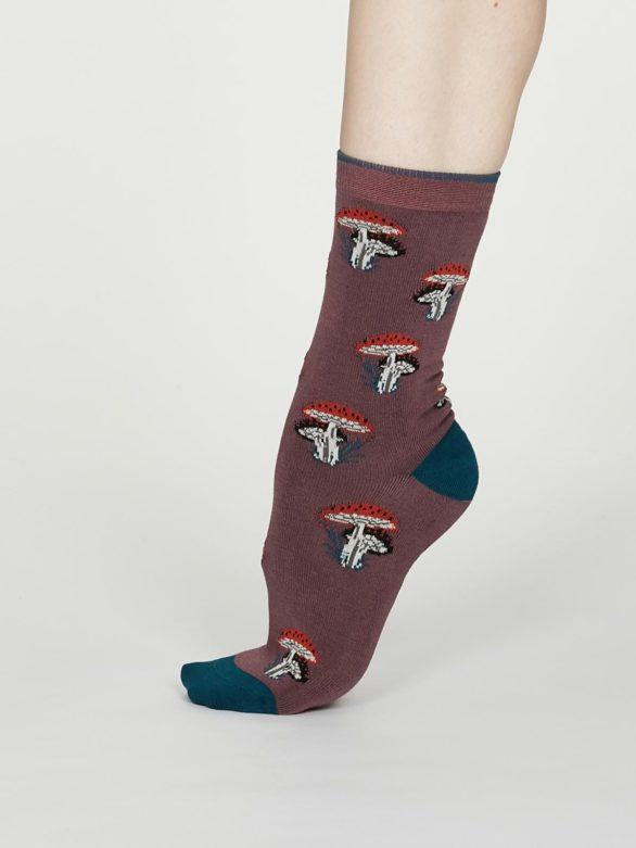Thought dámské bambusové ponožky ibot růžové