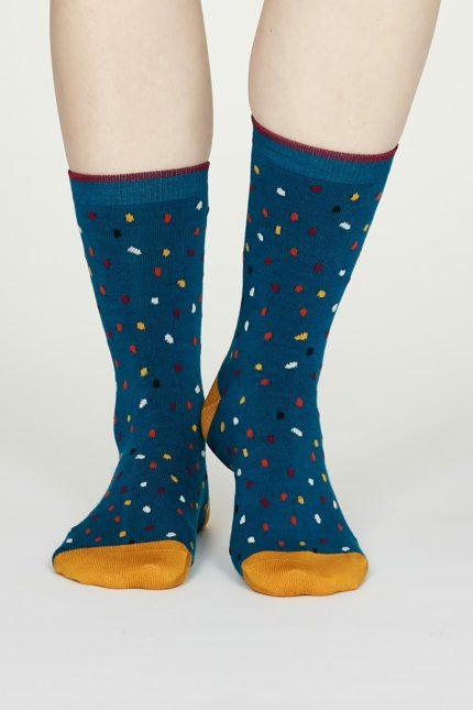 Thought dámské bambusové ponožky emme modré