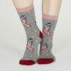 Thought dámské bambusové ponožky jena šedé