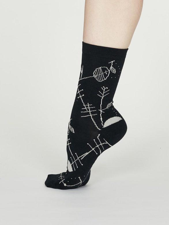 Thought dámské bambusové ponožky edith modré