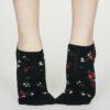 Thought dámské kotníkové ponožky flowery modré